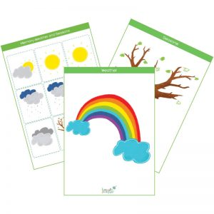 weather & seasons flashcards pack feat. img