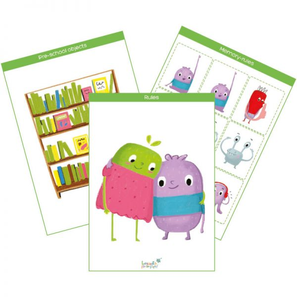 rules & pre-school objects flashcards pack feat. img