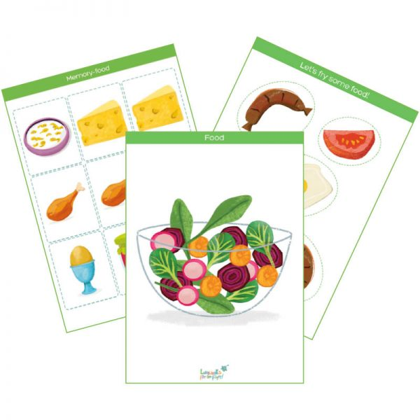 food & cooking flashcards pack feat. img