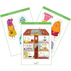 house & family members flashcard pack feat. img