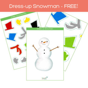 dress-up snowman flashcards pack free download feat. img