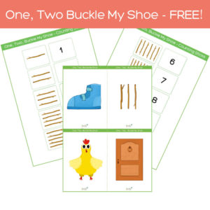 1, 2 buckle my shoe, flashcards pack free download feat. img