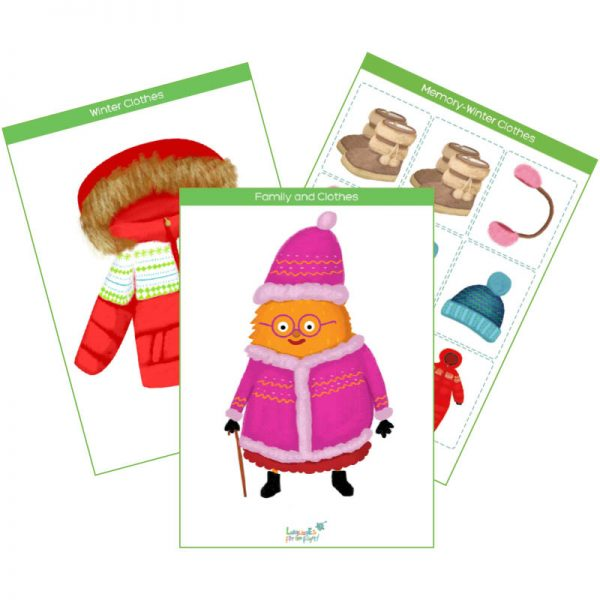 winter clothes flashcards & interactive cards product cover