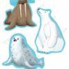 printable flashcards, cut-outs, walrus, polar bear & seal