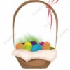 easter printable flashcards, basket of decorated eggs