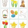 easter printable flashcards, memory game