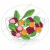 printable flashcards, mixed salad bowl