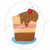 printable flashcards, slice of cake