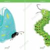 printable flashcards, butterfly, caterpillar
