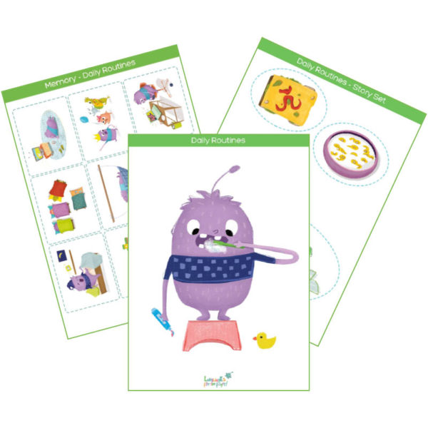daily routines flashcards & interactive cards product cover
