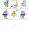 printable flashcards, daily routines memory game 2