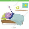 printable flashcards, waking up