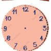 printable flashcards, clock face