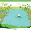 printable flashcards, summer holidays, sail on a lake