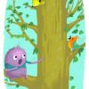 printable flashcards, summer holidays, sing in a tree