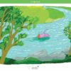 printable flashcards, summer holidays, swim in the river