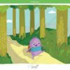 printable flashcards, summer holidays, walk in the forest