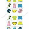 printable flashcards, summer clothes bingo