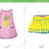 printable flashcards, summer clothes, dress, skirt