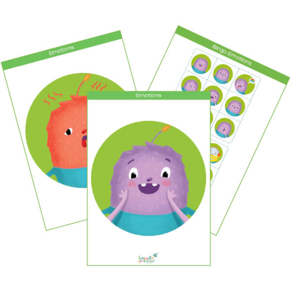 emotions printable flashcards feat img