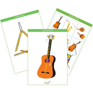 Musical Instruments Printable Flashcards, Memory Game & Bingo