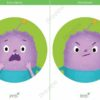 printable flashcards, emotions, scared, angry