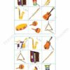 printable flashcards, musical instruments, bingo game 1