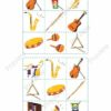 printable flashcards, musical instruments, bingo game 2