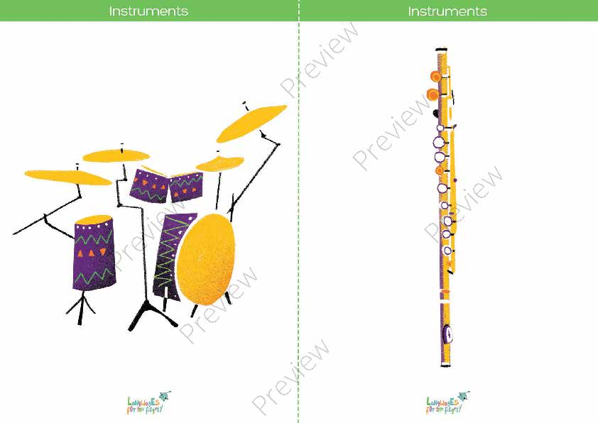 graphic relating to Printable Music Flashcards named Musical Equipment Printable Flashcards, Memory Sport Bingo
