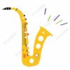 printable flashcards, musical instruments, saxophone