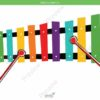 printable flashcards, musical instruments, xylophone