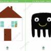printable flashcards itsy bitsy spider house spider
