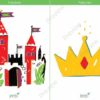 printable flashcards fairytale castle crown