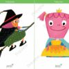 printable flashcards fairytale witch princess